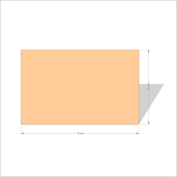 19 cm X 12 cm 3mm MDF Plaques with square corners