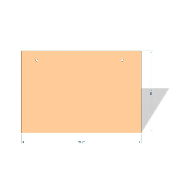 19 cm X 13 cm 4mm Birch plywood Plaques with square corners