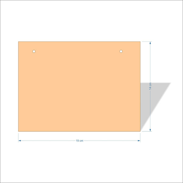19 cm X 14 cm 3mm MDF Plaques with square corners