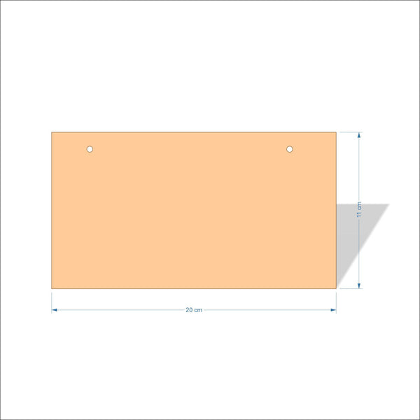 20 cm X 11 cm 4mm Birch plywood Plaques with square corners