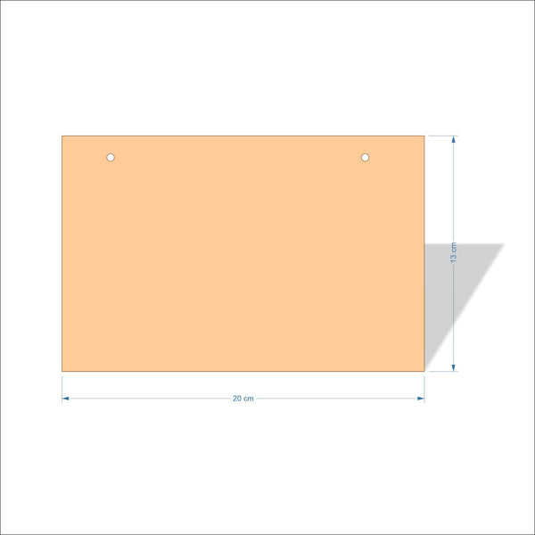 20 cm X 13 cm 4mm Birch plywood Plaques with square corners