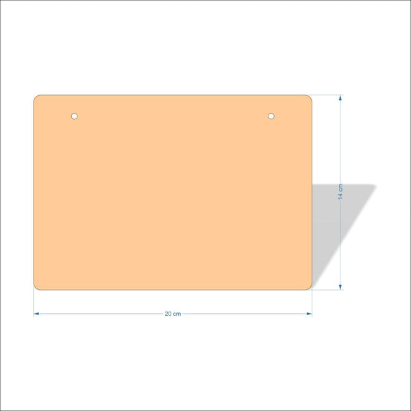 20 cm X 14 cm 4mm Birch plywood Plaques with rounded corners