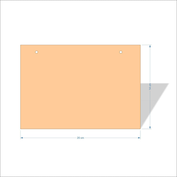 20 cm X 14 cm 4mm Birch plywood Plaques with square corners