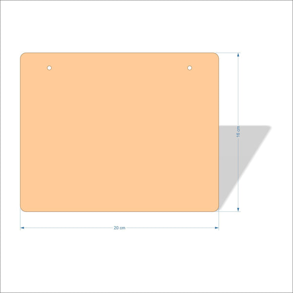 20 cm X 16 cm 3mm MDF Plaques with rounded corners