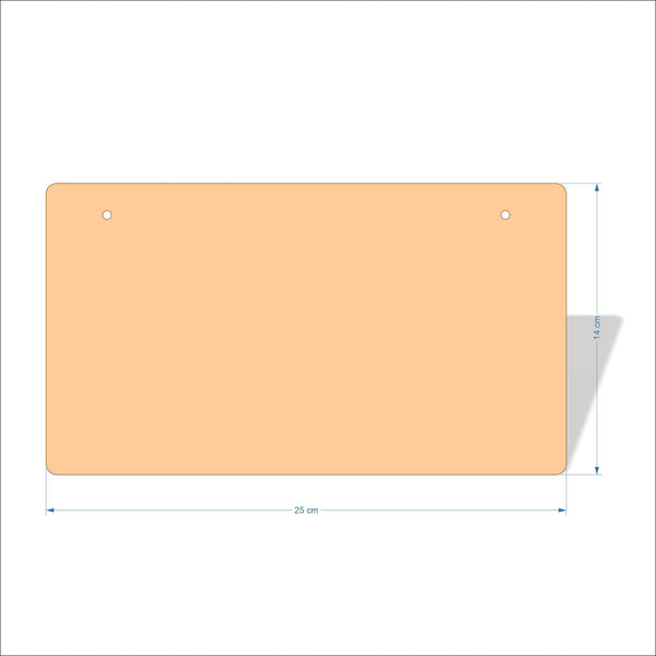 25 cm X 14 cm 4mm Birch plywood Plaques with rounded corners