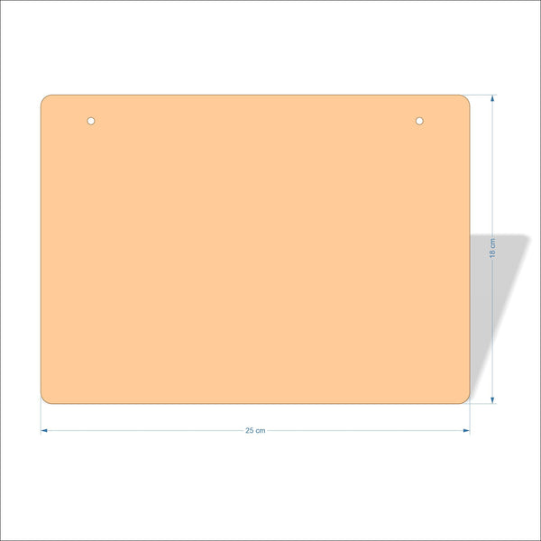 25 cm X 18 cm 4mm Birch plywood Plaques with rounded corners