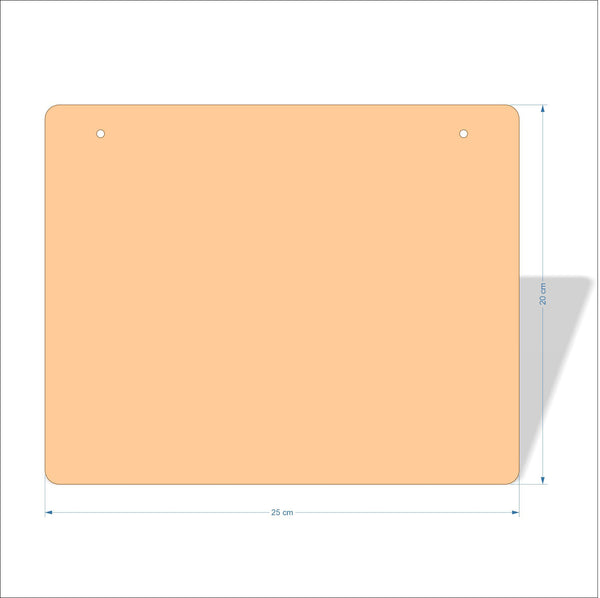 25 cm X 20 cm 3mm MDF Plaques with rounded corners