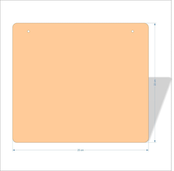 25 cm X 22 cm 4mm Birch plywood Plaques with rounded corners