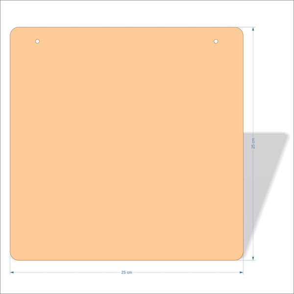 25 cm X 25 cm 4mm Birch plywood Plaques with rounded corners