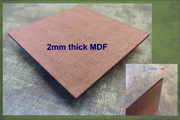 2mm thick MDF used to make the Santa hat cut-outs ready for crafting