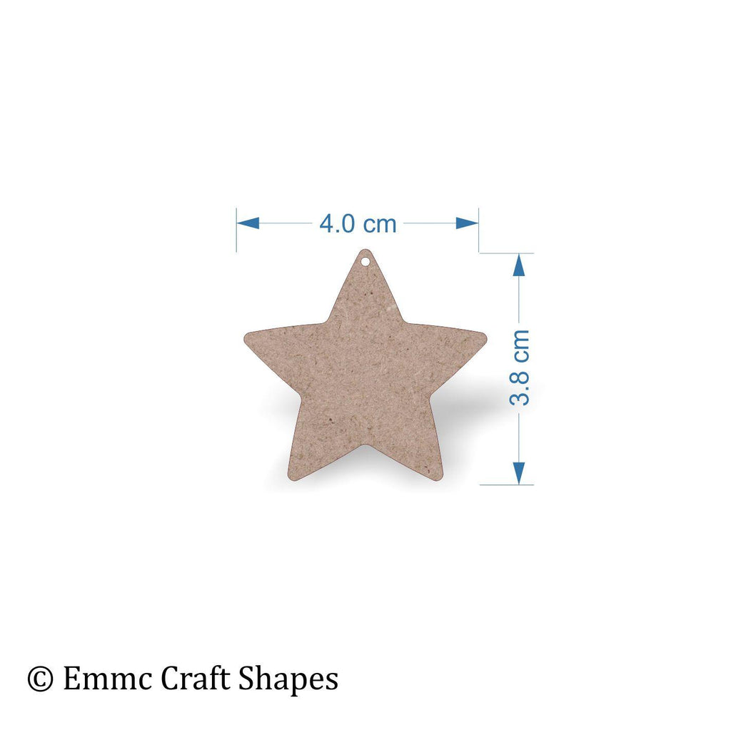 Wooden Star Shapes Thin Lightweight Star Shapes Emmc Craft Shapes