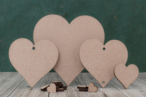 3mm mdf laser cut heart shape blanks.
