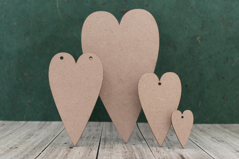 Primitive Heart 3mm MDF wood Plaques