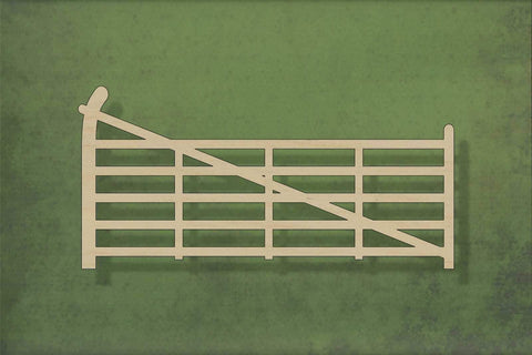 Laser cut, blank wooden 5 bar farm gate shape for craft