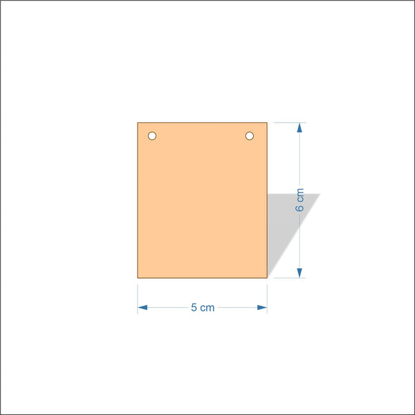 5 cm Wide 3mm thick MDF Plaques with square corners