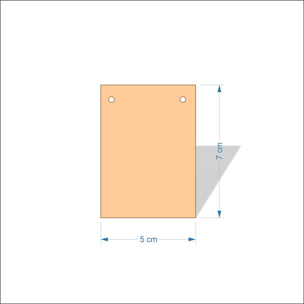 5 cm Wide 4mm thick Birch plywood Plaques with square corners
