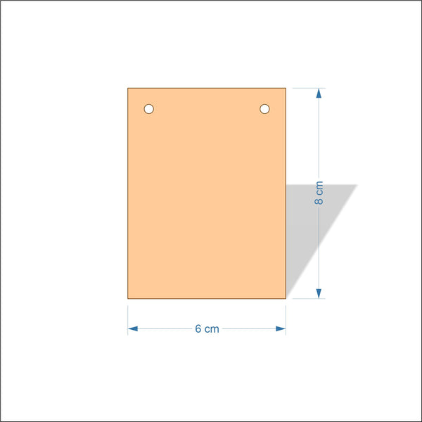6 cm Wide 4mm thick Birch plywood Plaques with square corners