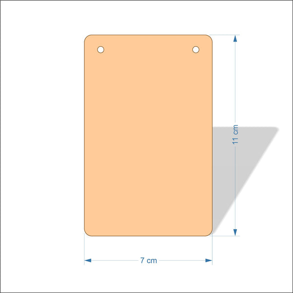 7 cm Wide 3mm thick MDF Plaques with rounded corners