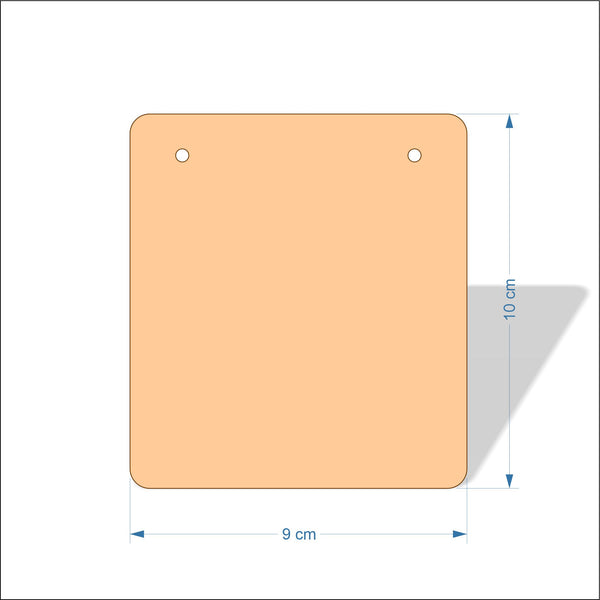 9 cm Wide 4mm thick Birch plywood Plaques with rounded corners