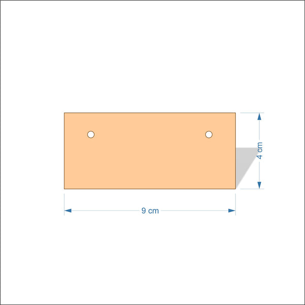 9 cm Wide 3mm thick MDF Plaques with square corners