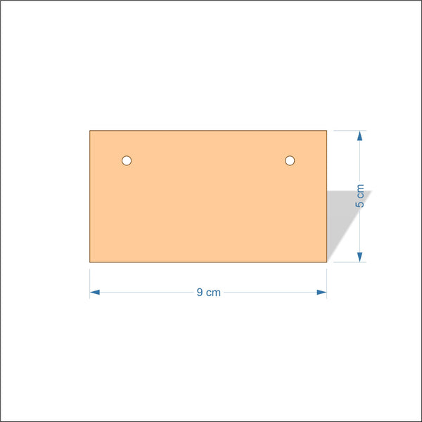9 cm Wide 4mm thick Birch plywood Plaques with square corners