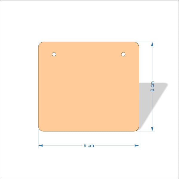 9 cm Wide 3mm thick MDF Plaques with rounded corners