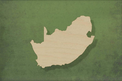 Laser cut, blank wooden Africa south shape for craft