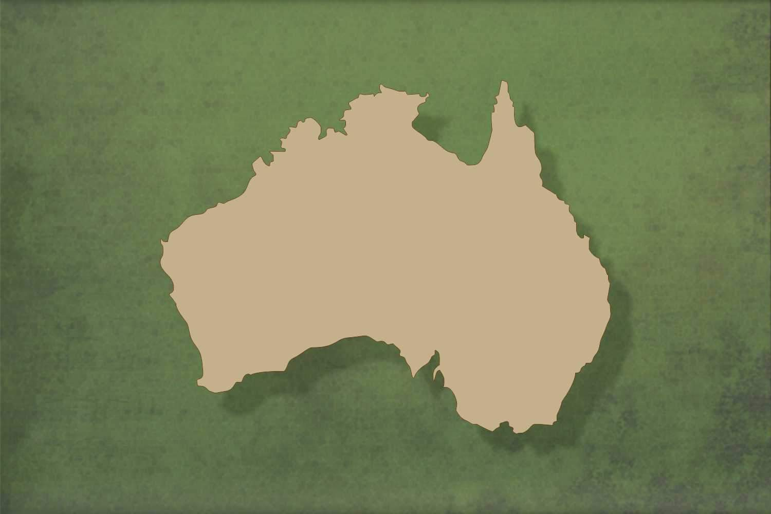 Laser cut, blank wooden Australia shape for craft