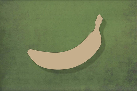 Laser cut, blank wooden Banana shape for craft