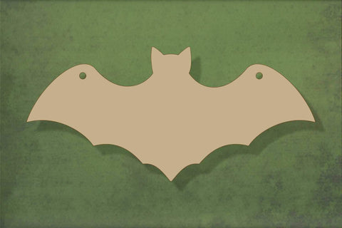 Laser cut, blank wooden Bat shape for craft