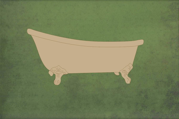 Laser cut, blank wooden Bath shape for craft