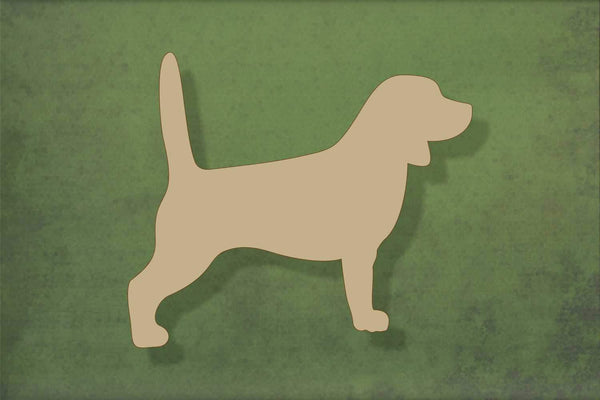 Laser cut, blank wooden Beagle shape for craft
