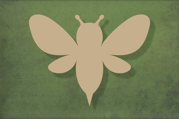 Laser cut, blank wooden Bee shape for craft