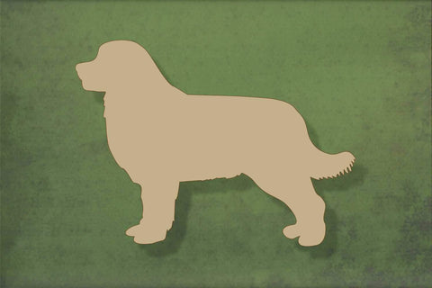 Laser cut, blank wooden Bernese mountain dog shape for craft