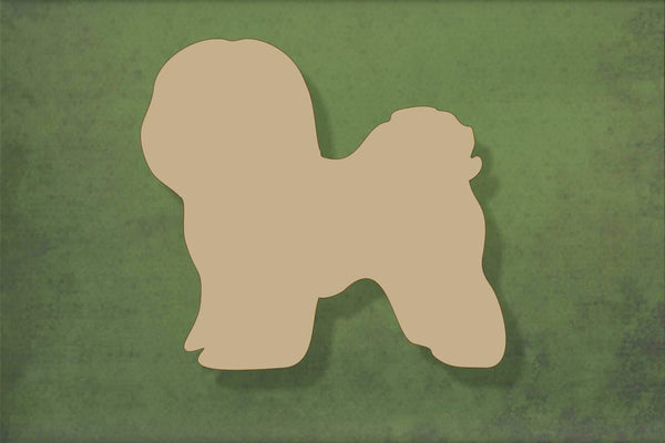 Laser cut, blank wooden Bichon shape for craft