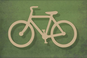 Laser cut, blank wooden Bicycle shape for craft