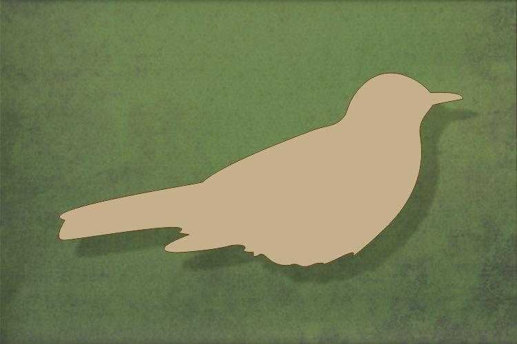 Laser cut, blank wooden Blackbird no legs shape for craft