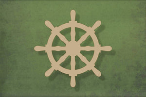 Laser cut, blank wooden Boat wheel shape for craft