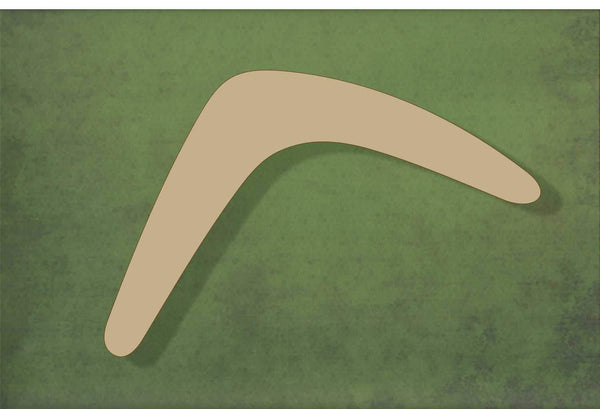 Laser cut, blank wooden Boomerang shape for craft