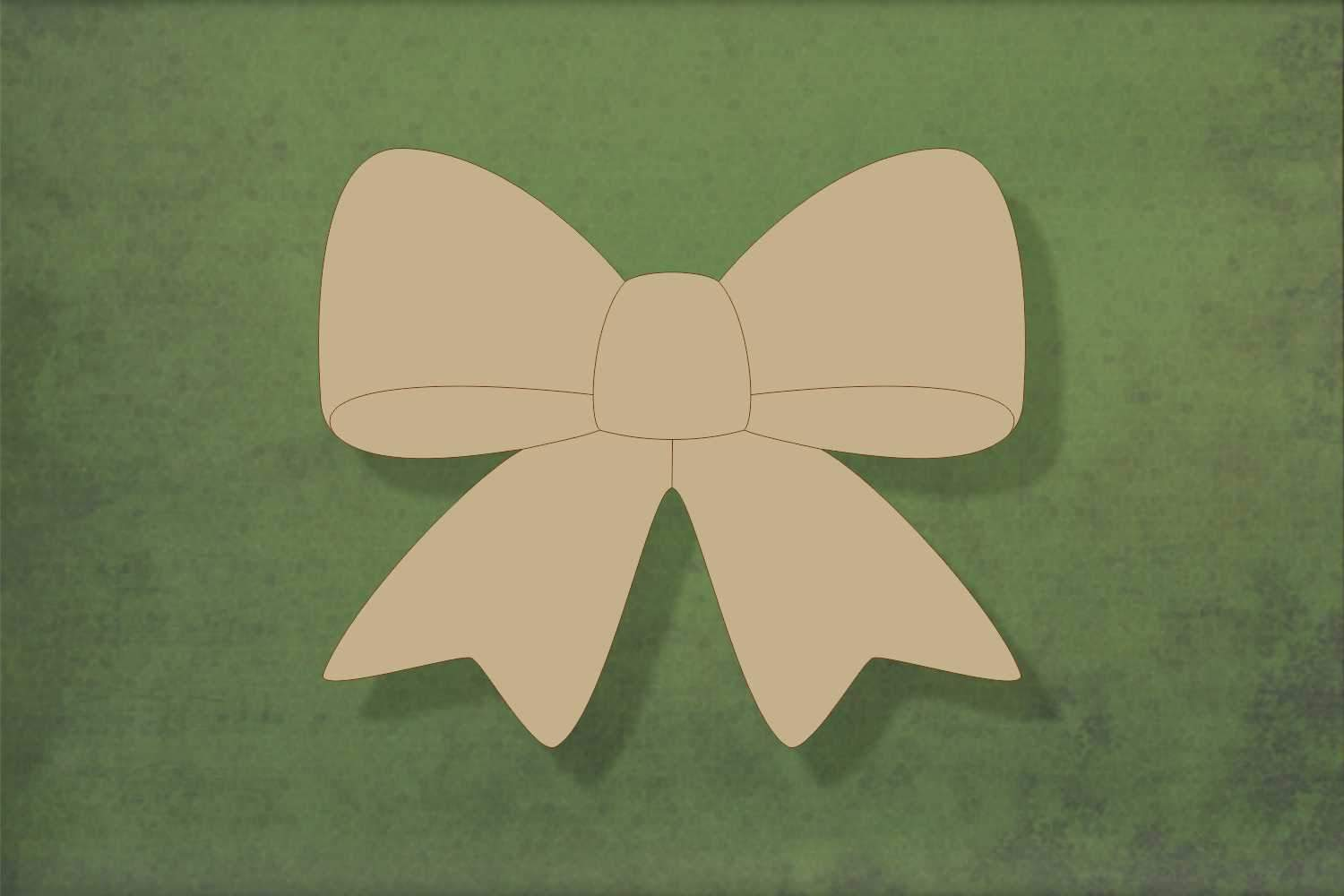 Laser cut, blank wooden Bow shape for craft