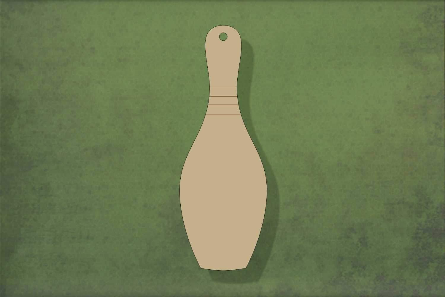 Laser cut, blank wooden Bowling pin shape for craft