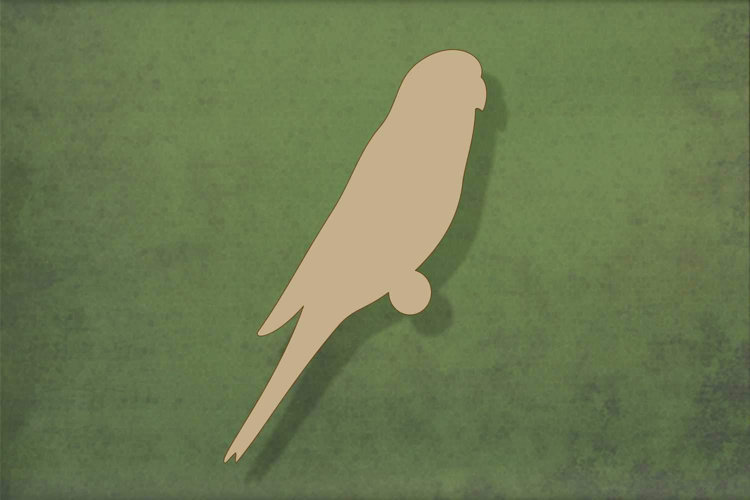 Laser cut, blank wooden Budgie shape for craft