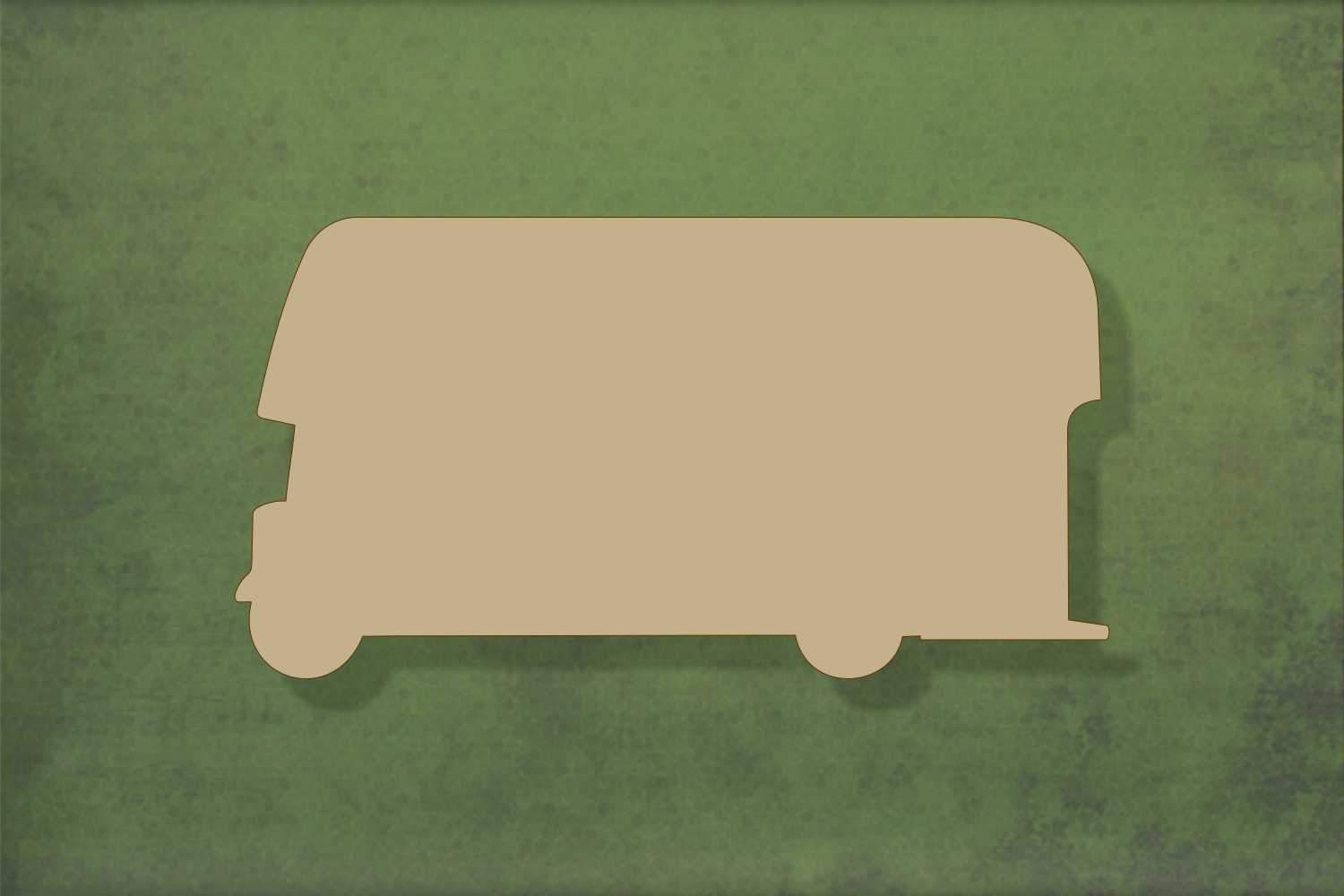 Laser cut, blank wooden Bus shape for craft