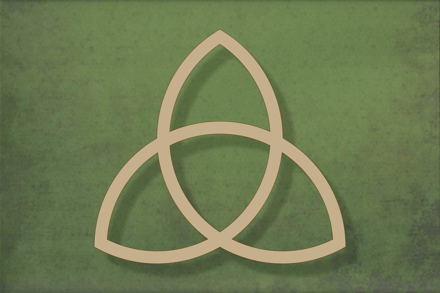Laser cut, blank wooden Celtic knot shape for craft