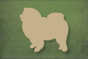 Laser cut, blank wooden Chow Chow shape for craft