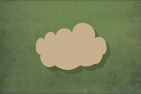 Laser cut, blank wooden Cloud 3 shape for craft