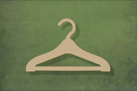 Laser cut, blank wooden Coat hanger shape for craft