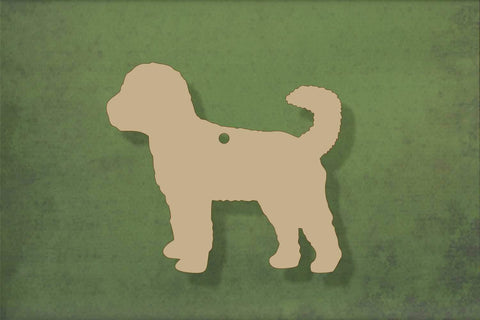 Laser cut, blank wooden Cockapoo shape for craft