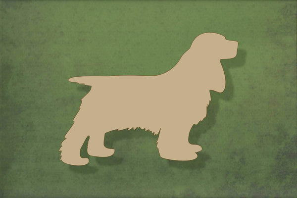 Laser cut, blank wooden Cocker spaniel shape for craft