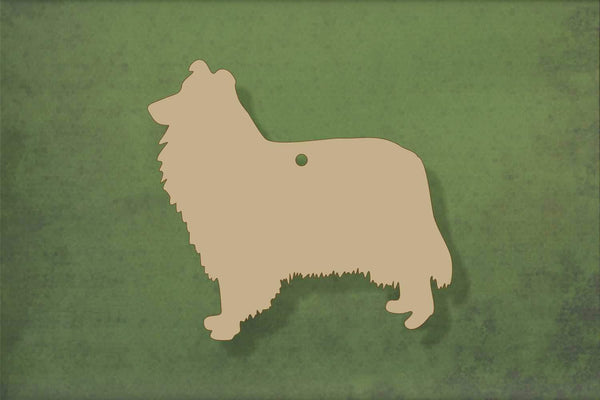 Laser cut, blank wooden Collie shape for craft